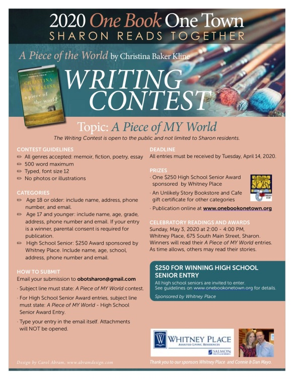 One Book 2020 Writing Contest
