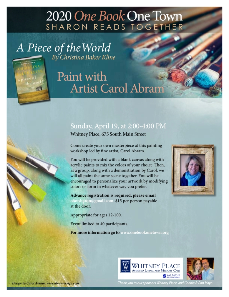 One Book 2020 Paint with Carol Abram jpg