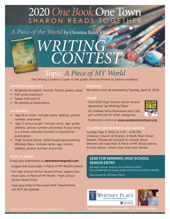 Writing Contest at Unitarian Church